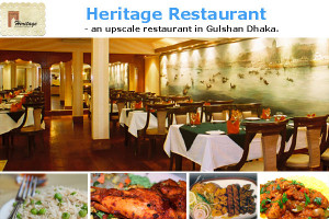 Heritage Restaurant - Bangla, Chinese and Indian Fusion Cuisine.