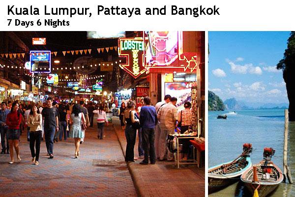 Kuala Lumpur, Pattaya and Bangkok Package Tour