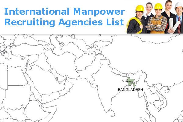 Bangladesh International Manpower Recruiting Agencies List