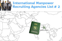 Bangladesh International Manpower Recruiting Agencies List # 2