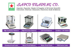 Sapco Trading Company : all kinds scientific instruments, chemical, glassware, electronic scale and balance.