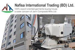 Nafisa International Trading (BD) Ltd. is the well reputed Buying house along with its own garments manufacturing & exporting unit Jann Composite Mills Ltd.