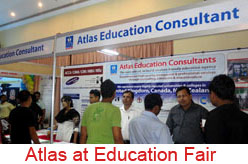 Atlas at education fair in Dhaka