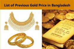 Previous Price List of Gold in Bangladesh