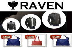 RAVEN - Online Leather Jacket, Wallet, Belt, Ladies Bags