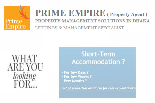PRIME EMPIRE (Property Agent) - Short Term Accommodation in Dhaka