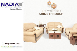 NADIA Furniture Sofa Set 2